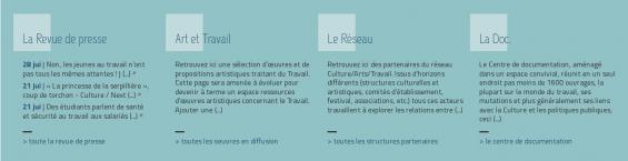 Visuel Plateforme Ressources Culture/Arts/Travail !